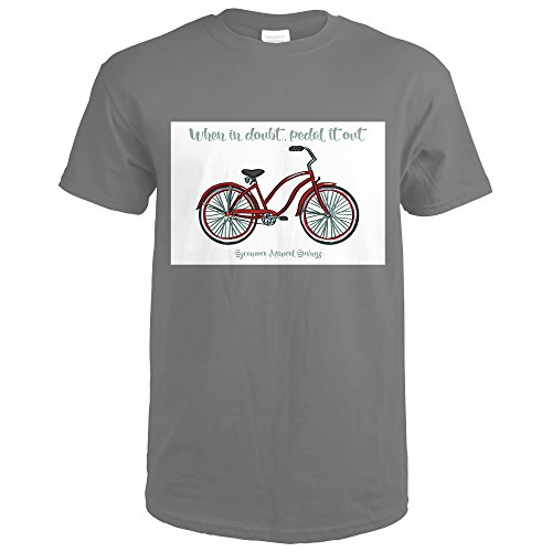 Medium Sycamore Springs - Avila Beach, Sycamore Mineral Springs - Beach Cruiser Bike (Charcoal T-Shirt Medium)