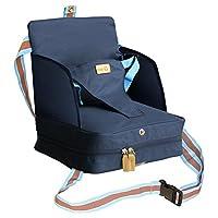 roba Boostersitz, mobiler aufblasbarer Kindersitz mit erhöhten Seitenteilen, flexible Sitzerhöhung für zuhause und unterwegs