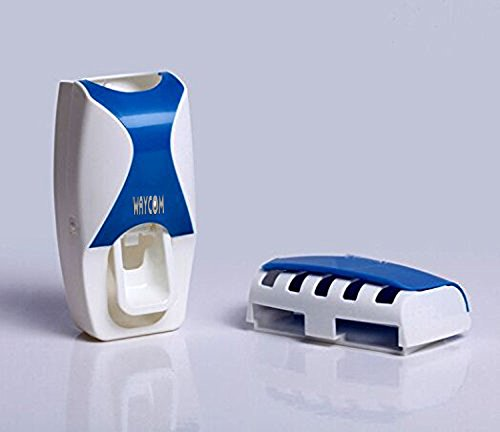 Waycom dust proof toothpaste dispenser toothpaste squeezer kit blue buy online in uae - Keep toothpaste kitchen ...
