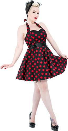 Classy Kleid amp; Roses Punkte Schwarz Dots Hearts Petticoatkleid roten Damen mit nxtIA4dqw