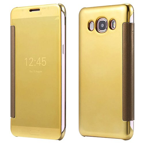 lowest price 23911 31a12 Casotec Clear View Mirror Flip Smart Case Cover for Samsung Galaxy J7  (2016) - Gold