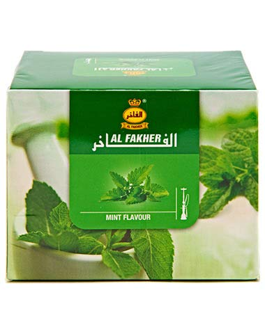 1 Kg. Al Fakher Shisha Molasses - Non Tobacco Mint Flavour Hookah Water Pipe Sold by SuperStore77 with Trademark Charcoal