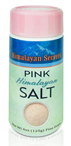 Himalayan Mineral Salt - Natural Pink Himalayan Cooking Salt - Kosher Certified Fine Grain Gourmet Salt in Mini 4 oz Shaker - Heart Healthy Salt Packed with Minerals