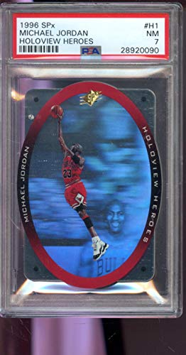 1996-97 Upper Deck SPx Holoview Heroes #H1 Michael Jordan Chicago Bulls NM PSA 7 Graded Basketball Card
