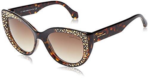 عیک آفتابی زنانه با شیشه ی قهوه ای رنگ مدل Roberto Cavalli RC1033 Casole Sunglasses 63 16X Shiny Palladium Blu Mirror