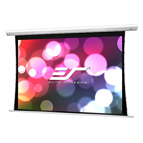 (Elite Screens Saker Tab-Tension B, 100-inch Diag 4:3, Large Electric Motorized Drop Down Projection Projector Screen, Model: SKT100XVWB-E10)