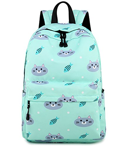Abshoo Cute Lightweight Cat Backpacks Girls School Bags Kids Bookbags (Cat Blue) (Best School Bags For Girls)