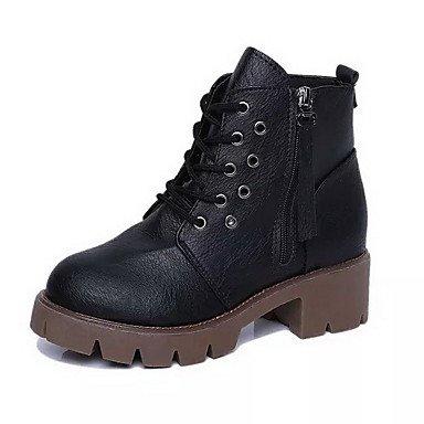 De donna-stivaletti-ufficio y trabajo/vestir/casual-comoda-quadrato-pu (TPU) -Nero/marrón/gris, negro, us8 / eu39 / uk6 / cn39 negro