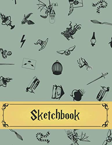 Sketchbook: Harry Potter Inspired Sketch Book Blank for Drawing & Sketching | Suitable for Kids of All Ages