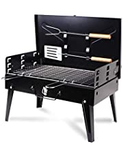 Portable BBQ Charcoal Grill Set - Small Barbeque Grills for Cooking Picnic Camping multi-use for different occasions.