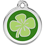 Red Dingo Personalized Clover Pet ID Dog Tag (Large)