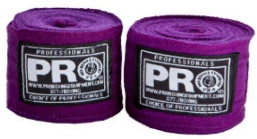 Pro Boxing Equipment Extra Long Hand Wraps (Mexican Style Cotton and Gauze Blend Hand Wraps ) (Purple)
