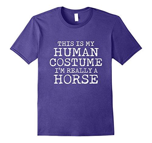 Mens HORSE Halloween Costume shirt Easy for Men, Women Large (Easy Halloween Costumes For Horses)