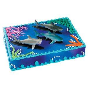 Amazon.com: Sharks Cake Topper: Kitchen & Dining