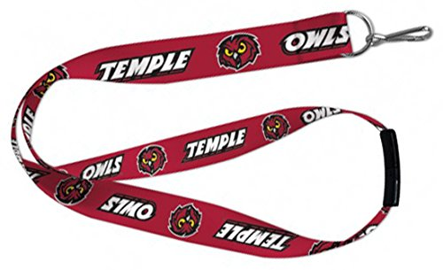 WinCraft Temple University Owls Lanyard Key Chain with Plastic Safety Breakaway Clasp