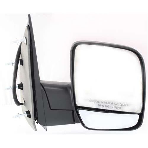 Make Auto Parts Manufacturing Passenger/Right Side Textured Black Power Operated Manual Folding Non-Heated Door Mirror For Ford E150 2003-2006 / For Ford E-250 2003-2006 - FO1321254