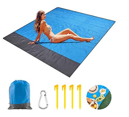 Shuny Picknickdeken, stranddeken, picknickdeken, stranddeken, 200 cm x 140 cm, ultralicht, compact, slijtvast nylon…