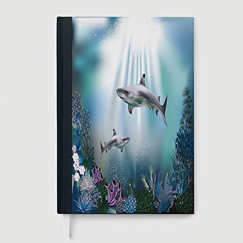 Cuaderno ejecutivo de tapa dura, decoración de la Toscana, cuaderno, varias imágenes de estilo de vida italiano con ventana...