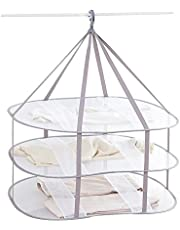"""Looca 3-Tier Folded Mesh Clothes Hanging Dryer Sweater Drying Rack 30.3"""" L 24.5"""" W30.7 H"""