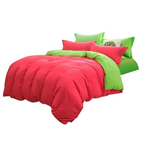CieKen Bed Sheet Set, 1500 Series Sheet Bedding Set Solid Color Multiple Colors Size Single/Twin/Full/Queen/Double/King, Hypoallergenic Wrinkle Free Bedroom polyester fiber Set (Double) by CieKen