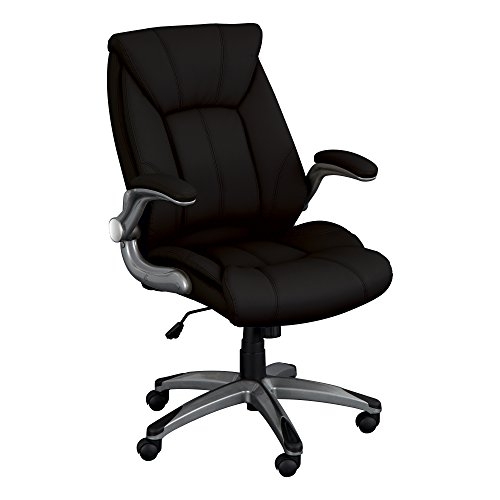 Norwood Commercial Furniture Executive Chair with Flip-Up Arms, Black, NOR-OUG1041BK-SO by Norwood Commercial Furniture