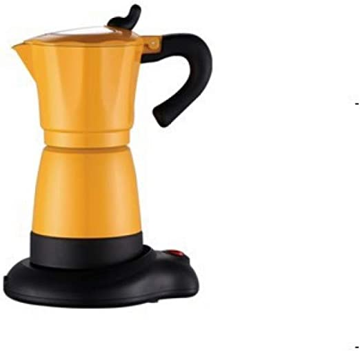 SYSWJ Cafetera Electric Moka Coffee Pot/Mocha Coffee Pot With And Perfect Gift For Everyone,Yellow: Amazon.es: Hogar