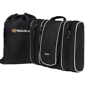 Toiletry Bag (13 Inches) with 3 Detachable Pockets + Waterproof Multi-Use Bag - Travel Hanging Toiletry Bag for Men or Women - Best Large Hygiene Bag & Toiletries Storage +2 Bonus Best-Selling EBooks