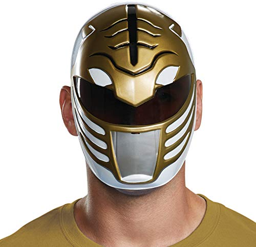 Disguise Men's White Ranger Mask, One Size Adult