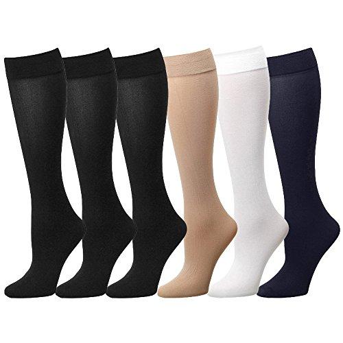 Women Trouser Socks (6-Pack) 700-8-ASSTORTED6