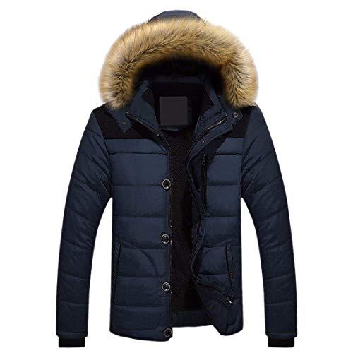 Winderproof Giacca Mode Bolawoo Outdoor Capispalla Blau Uomo Da Down Hooded Marca Nener Overcoat Winter Ntel Coat Navy Addensare Di aXwdqqxP