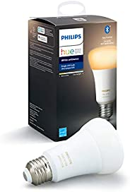Philips Hue White Ambiance A19 LED Smart Bulb, Bluetooth & Zigbee compatible (Hue Hub Optional), Works wit
