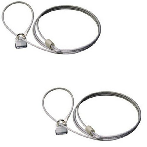 Master Lock 715DAT Car Cover Cable and Lock Kit (2 Pack)