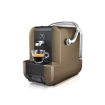 Lavazza SIMPLA GREIGE Independiente Manual Máquina de café en cápsulas 0.9L Negro, Marrón -