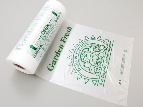 """UPC 680569123015, Plastic Bag-Printed HDPE 5-A-Day Produce Rolls 10""""x15"""" 11 mic - 3500 bags/case"""