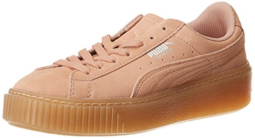 Beige Jr Sneakers Beige Beige peach Enfant Puma Suede Platform Basses Jewel Mixte peach wqIU8xB