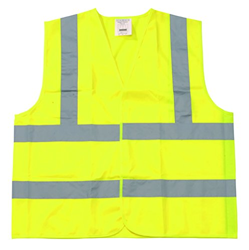 Shield Safety Class 2 Velcro Closure Front Safety Vest, 4X-Large, Yellow Polyester (25 Pack)