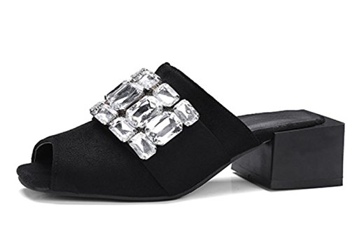 Scarpe da donna YCMDM Outwear da usura estiva Sandali di formato oversize di modo , black , 32 custom 2-4 days do not return