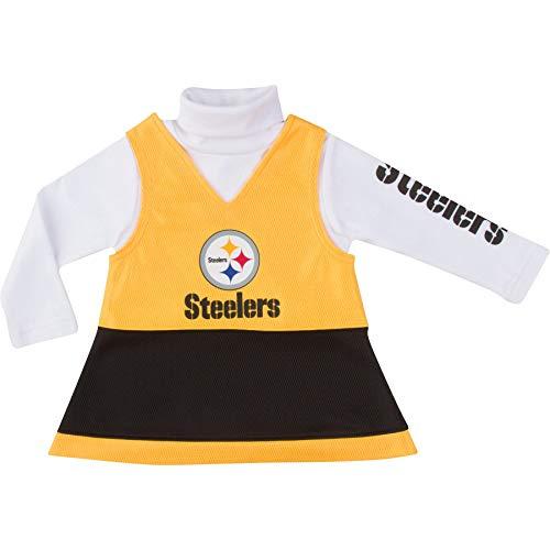 NFL Pittsburgh Steelers Girls Jumper Set, Black, 2T
