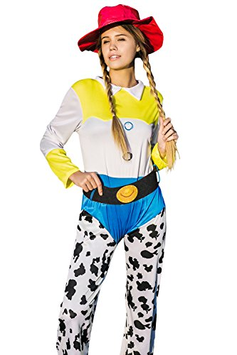 Adult Women Cowgirl Halloween Costume Western Charra Girl Dress Up & Role Play (Small/Medium) (Unique Adult Halloween Costumes Ideas)