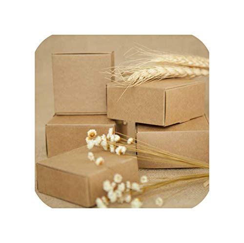 New DIY Kraft Paper Box Gift Box for Wedding Favors Birthday Party Candy Cookies Christmas Party Gift Ideas Box,75X75X30Mm]()