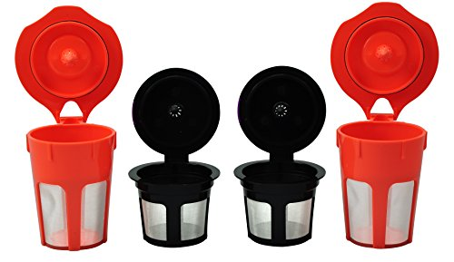 EcoSave Reusable K Carafe And K-Cups Filter Combo Set for Keurig 2.0 - K200, K300, K400, K500 Series by EcoSave