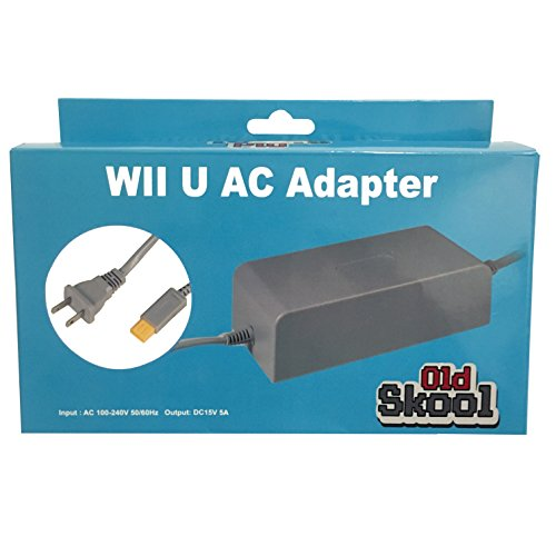 - Old Skool Wii U Console AC Adapter Power cord