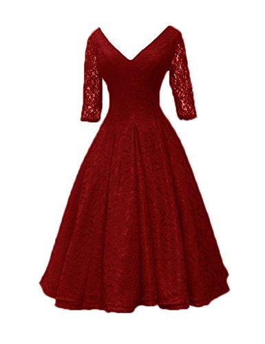 Stillluxury mujer Noche Rosso Vestido para Zrwfrqx06B