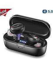 Auricolari Bluetooth Senza Fili Cuffie Bluetooth 5.0 Sport in Ear con Custodia da Ricarica Microfono Leggeri Hi-Fi Cuffie per iPhone