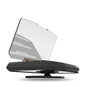Universal GPS Coche Montar Teléfono Poseedor con HUD Head Up Display Reflector de la Lente En Coche Navegación Pantalla para iPhone Samsung Compatible con Todas Inteligente Teléfono