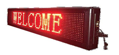 LED SIGNS 78'' X 15'' BRIGHT PROGRAMMABLE SCROLLING MESSAGE DISPLAY / BUSINESS TOOLS by MegaSignInc