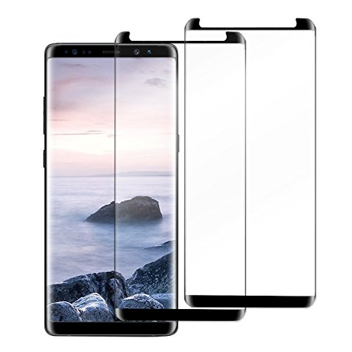 [2 Pack] Galaxy Note8 Screen Protector,Wtbone [3D Curved Edge][Case Friendly] Ultra Clear 9H Hardness Tempered Glass Screen Protector Bubble-Free Film for Samsung Galaxy Note 8 2017, black