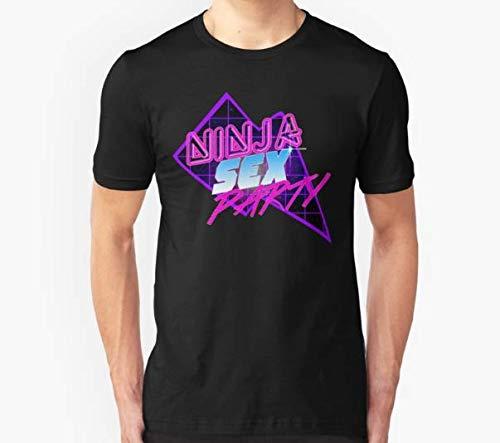 Sexy Ninja Parties (80s inspired design) Slim Fit ... - Amazon.com