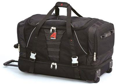 Athalon Luggage 29'' Over/Under Duffel, Black by Athalon