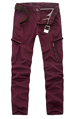 Davikey Men's Premium Cotton Relaxed Fit Cargo Work Pant No Belt 134